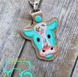 Handmade Cow Keychain
