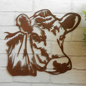 Metal Cow Head Sign