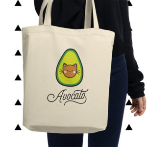 Avocato Tote Bag Cat Gift