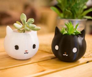 Kitty Cat Planters
