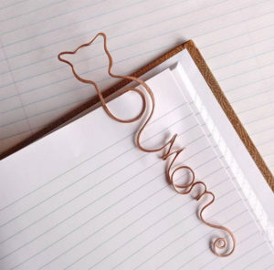 Personalized Cat Bookmark Kitty Gift Idea