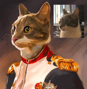 Custom Cat Painting Gift Idea
