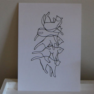 Falling Cat Wall Art