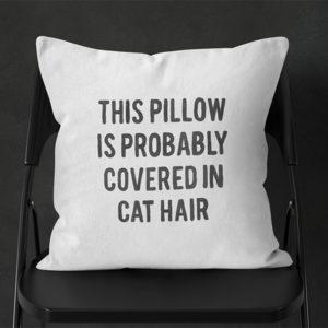 Funny Cat Hair Pillow