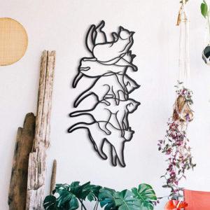 Falling Cat Wall Art