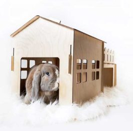 Tokihut Wooden Rabbit House