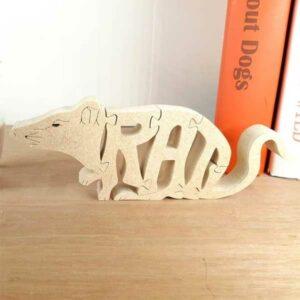 Wood Rat Puzzle Gift Idea