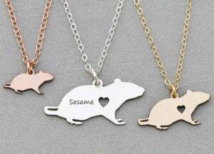 Personalized Rat Necklace