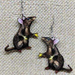 Rat Earrings Gift for Rat Owners