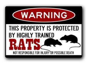 Rats Property Warning Sign
